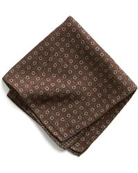 Todd Snyder - Italian Wool Pocket Square In Brown Circle - Lyst