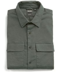 Todd Snyder - Stretch Wool Flannel Camp Pocket Shirt In Olive - Lyst