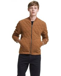 Todd Snyder - Champion Quilted Bomber In Chestnut - Lyst