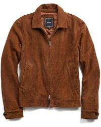Todd Snyder | Suede Aviator Jacket In Brown | Lyst