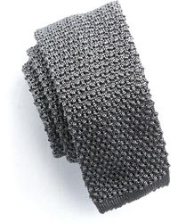 Todd Snyder - Classic Silk Knit Tie In Grey - Lyst