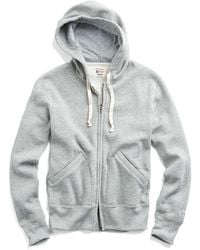 Todd Snyder - Classic Fullzip Hoodie In Light Grey Mix - Lyst