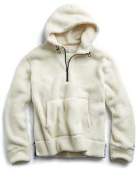 Todd Snyder - Polartec Sherpa Popover Hoodie In Cream - Lyst