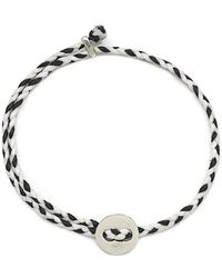 Scosha - Signature 4mm Bracelet, Silver In White And Black - Lyst