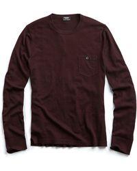 Todd Snyder - Cashmere T-shirt Jumper In Aubergine - Lyst
