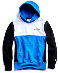 Todd Snyder - Champion Color Block Hoodie In Blue - Lyst