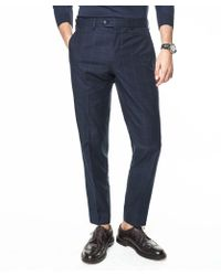 Todd Snyder - Sutton Windowpane Cotton Suit Trouser In Navy - Lyst