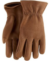 Red Wing - Red Wing Gloves In Medium Brown Leather - Lyst