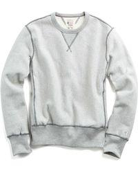 Todd Snyder - Reverse Weave Sweatshirt In Grey Mix - Lyst