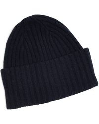 637e6838205 Drake s - Brushed Merino Wool Hat Navy - Lyst
