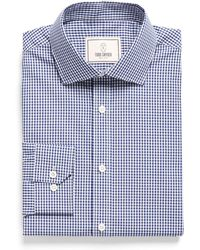 Todd Snyder - Spread Collar Dress Shirt In Blue Plaid - Lyst