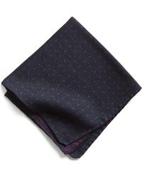 Todd Snyder - Italian Wool Pocket Square In Purple Dot - Lyst