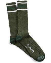 Corgi - Slub Stripe Socks In Green - Lyst