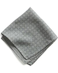 Todd Snyder - Italian Wool Pocket Square In Grey Circle - Lyst