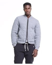 Todd Snyder - Champion Quilted Bomber In Charcoal - Lyst