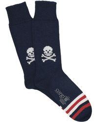 Corgi - Heavyweight Skull Socks In Navy - Lyst