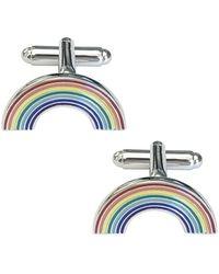 Link Up - Rainbow Cufflinks - Lyst