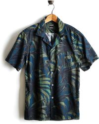 Todd Snyder - Cotton Camp Collar Olive Palm Print Shirt - Lyst