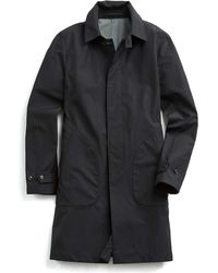 Todd Snyder - Double-face Trench Coat In Black - Lyst