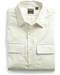 Todd Snyder - Stretch Wool Flannel Camp Pocket Shirt In White - Lyst
