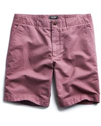 "Todd Snyder - 9"" Cotton Linen Oxford Surplus Short In Mauve - Lyst"