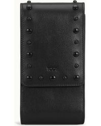 Tod's - Mobile Phone Holder In Leather - Lyst