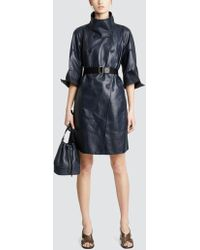 Tomas Maier - Tech Bonded Leather Coat - Lyst