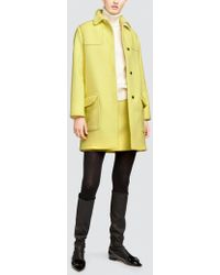 Tomas Maier - Compact Wool Montgomery Coat - Lyst