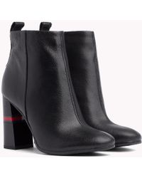 Tommy Hilfiger - Metallic Colour-blocked Heel Boots - Lyst