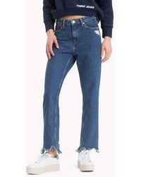 Tommy Hilfiger - Distressed Rigid Denim Jeans - Lyst