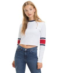 Tommy Hilfiger - Cropped Long Sleeve T-shirt - Lyst
