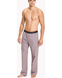 Tommy Hilfiger - Woven Check Cotton Pyjama Trousers - Lyst