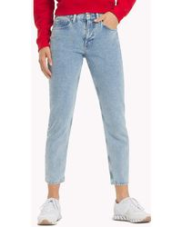 24d274ee Tommy Hilfiger Izzy Inside-out Hem Jeans in Blue - Lyst