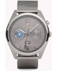 Tommy Hilfiger - Deacan Grey Steel Watch - Lyst