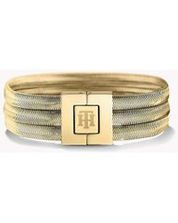 Tommy Hilfiger - Gold-plated Snake Bracelet - Lyst