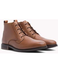 Tommy Hilfiger - Classic Leather Ankle Boots - Lyst