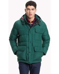 Tommy Hilfiger - Utilitarian Hooded Bomber Jacket - Lyst