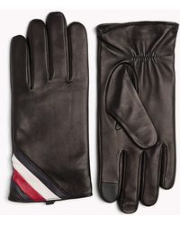 Tommy Hilfiger - Signature Colour-blocked Leather Gloves - Lyst
