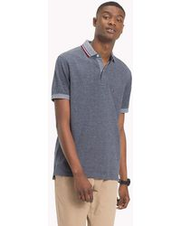 ddbee46bf417 Tommy Hilfiger Embroidered Slim Fit Polo Shirt in Blue for Men - Lyst