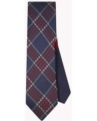 Tommy Hilfiger - Pure Silk Woven Check Tie - Lyst