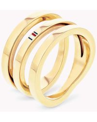 Tommy Hilfiger - Signature Cross-over Spiral Ring - Lyst
