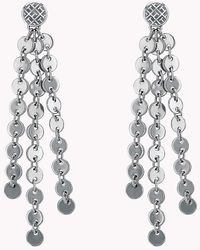 Tommy Hilfiger - Hanging Disc Earrings - Lyst