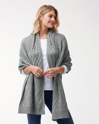 Tommy Bahama - Cable Patchwork Wrap - Lyst