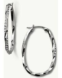 Tommy Bahama - Swarovski® Crystal Twisted Pavé Hoop Earrings - Lyst