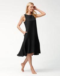 Tommy Bahama - Linen-blend Flounce Dress - Lyst