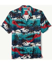 c3b0d472 Lyst - Tommy Bahama South Pacific Paradise Silk Blend Shirt in Blue ...