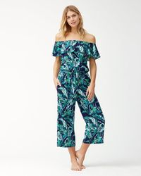 Tommy Bahama - Breezy Palms Off-the-shoulder Cropped Jumpsuit - Lyst