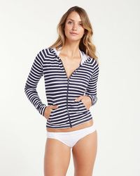 Tommy Bahama - Breton Stripe Long-sleeve Full-zip Rash Guard - Lyst