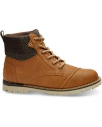 TOMS - Waterproof Dark Toffee Leather Men's Ashland Boots - Lyst