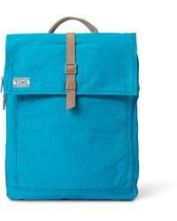 TOMS - Teal Utility Canvas Trekker Backpack - Lyst